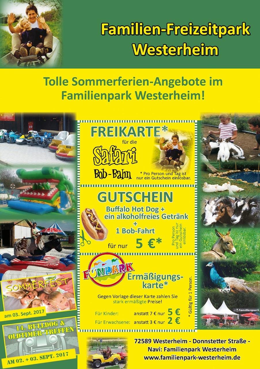 Familien-Freizeitpark Westerheim Sommerferien-Angebote 2017